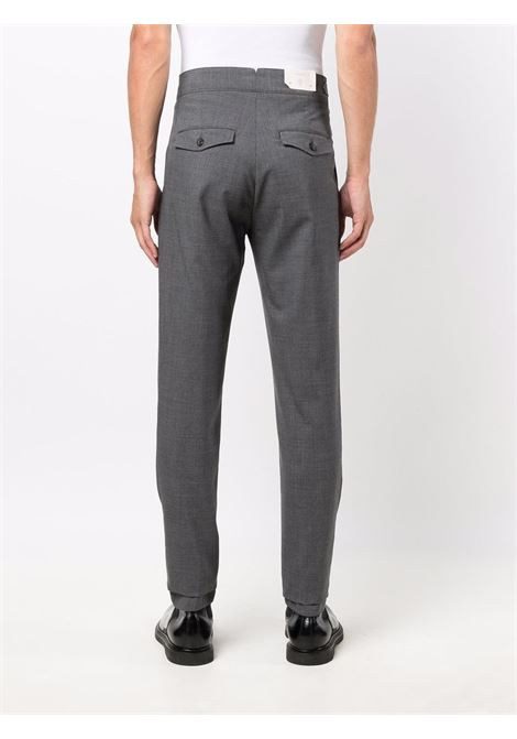 Medium grey wool high-waisted wool tapered trousers  ELEVENTY |  | D75PAND03-TES0D05514