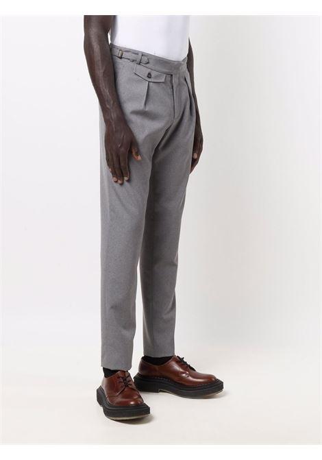 Pantaloni a vita alta affusolati in lana grigio melange ELEVENTY | Pantaloni | D75PAND03-TES0D05613
