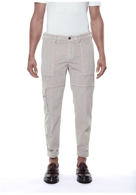 Sand stretch cotton corduroy cargo trousers  ELEVENTY |  | D75PAND04-TET0D00302
