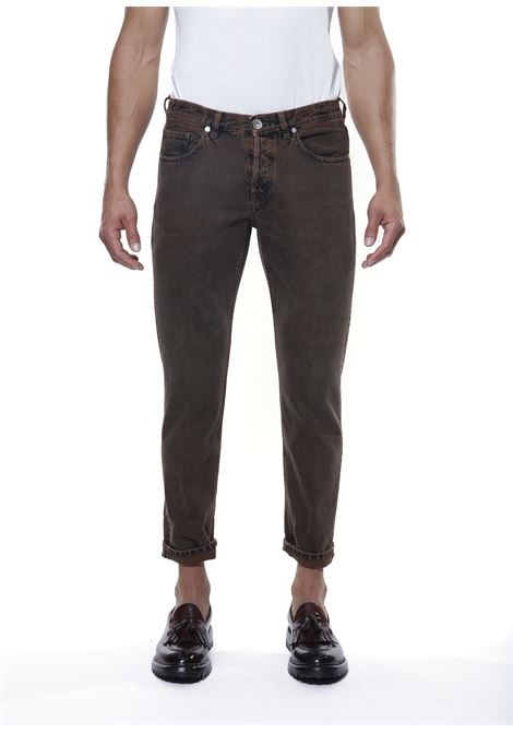 Jeans cropped in cotone marrone scuro ELEVENTY   Jeans   D75PAND15-TET0D01905