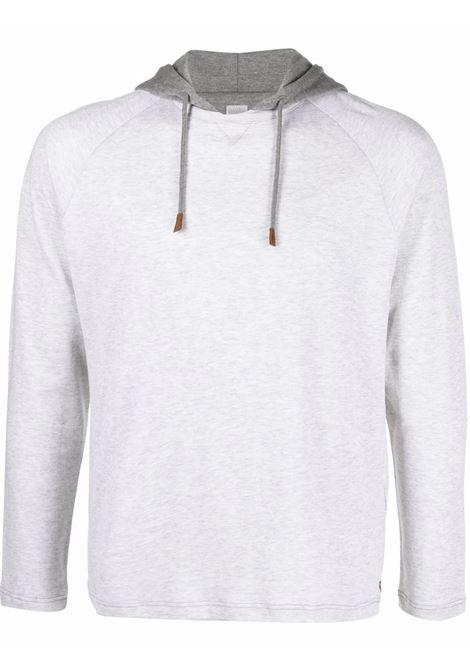 Light grey cotton hoodie featuring drawstring hood ELEVENTY |  | D75TSHD08-TES0D16113-14