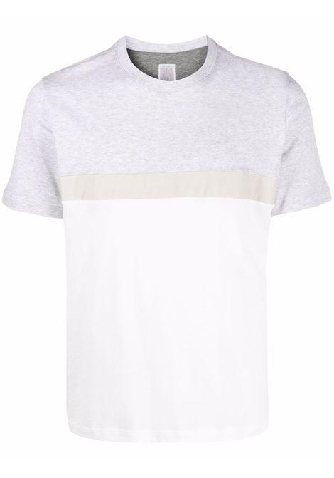 Grey and white cotton colour-block T-shirt  ELEVENTY |  | D75TSHD10-TES0D162010213