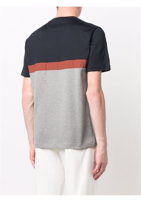Black,red and grey cotton and wool colour-block T-shirt  ELEVENTY |  | D75TSHD10-TES0D162140911