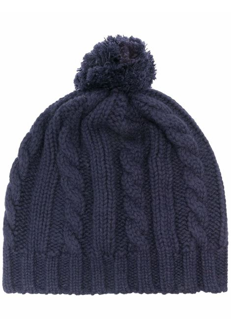 Berretto in lana blu navy con pompon ELEVENTY | Cappelli | D76CPLD01-MAG0B00211