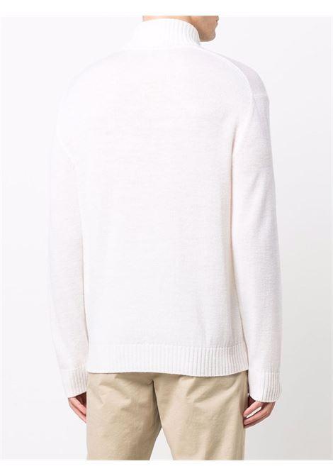 Maglia collo alto in maglia di lana vergine off-white ELEVENTY | Maglieria | D76MAGD19-MAG2401200