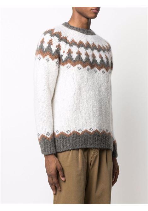 maglione lavorato a maglia con stampa fairisle di cashmere e alpaca ELEVENTY | Maglieria | D76MAGD23-MAG0D01300