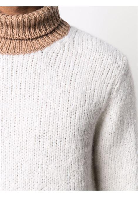 Maglione a collo alto in maglia di cashmere e lana di alpaca multicolor ELEVENTY | Maglieria | D76MAGD25-MAG0D01500