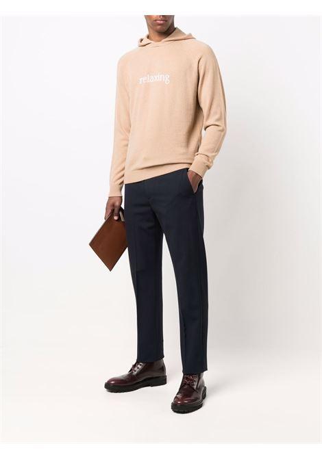 Felpa con cappuccio Relaxing in cashmere e lana beige ELEVENTY | Maglieria | D76MAGD39-MAG0D02704