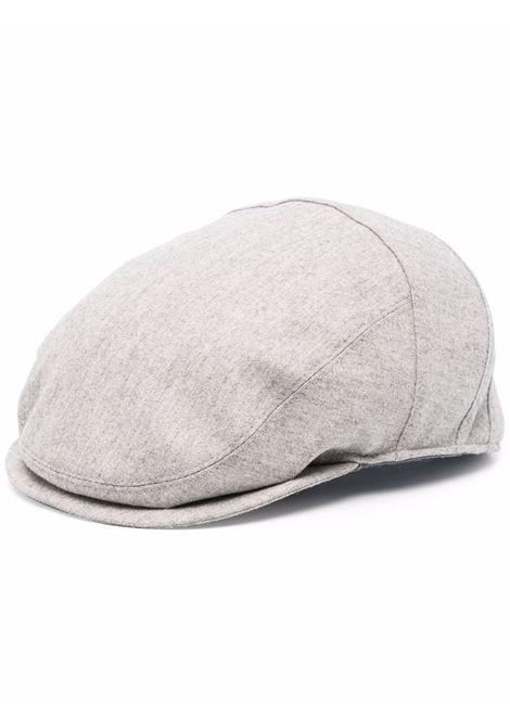 Berretto Baker boy grigio in lana vergine e cashmere ELEVENTY | Cappelli | D77CPLD03-TES0D03713