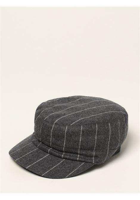 Cappello paperboy grigio medio a righe in lana e cashmere ELEVENTY | Cappelli | D77CPLD04-TES0D03515