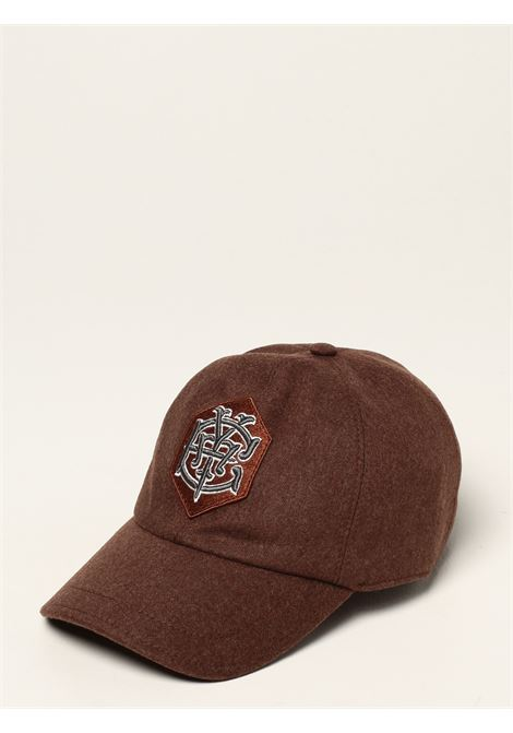 Cappello da baseball marrone in cashmere e lana vergine ELEVENTY | Cappelli | D77CPLD07-TES0D03705
