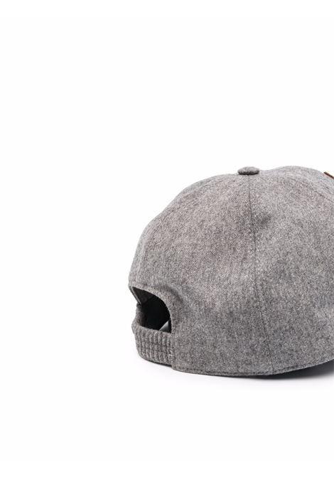 Cappellino da baseball grigio medio in lana-cashmere ELEVENTY | Cappelli | D77CPLD07-TES0D03714