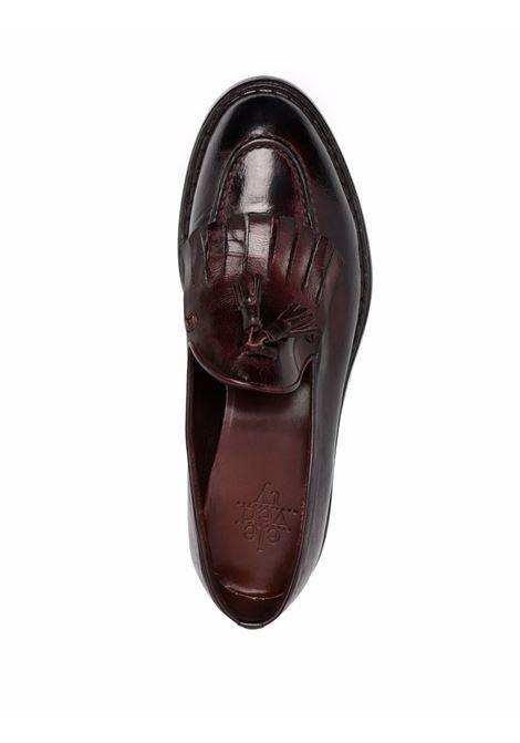 Mocassini in pelle marrone scuro con frange ELEVENTY   Mocassini   D77SCAD08-SCA0D00605