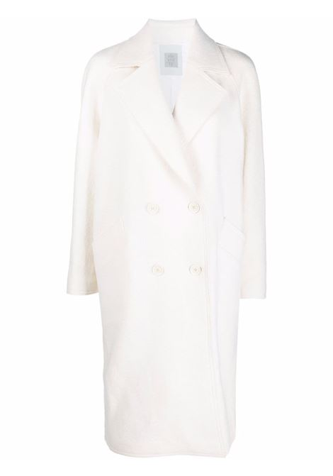 White wool longline double-breasted coat  ELEVENTY |  | D80CAPD04-CAS2400401
