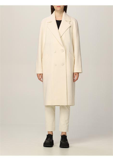 Cappotto lungo doppiopetto in lana bianca ELEVENTY | Cappotti | D80CAPD04-CAS2400401