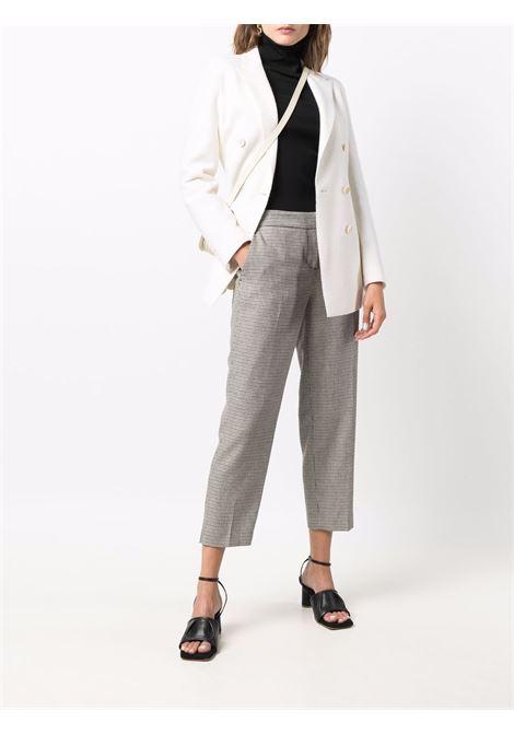Blazer doppiopetto in lana vergine color panna bianco ELEVENTY | Giacche | D80GIAD02-TES0B08701