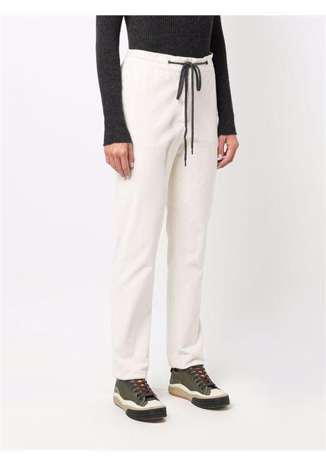 Pantaloni avorio in velluto a coste con coulisse nera ELEVENTY | Pantaloni | D80PAND06-TES0B186135
