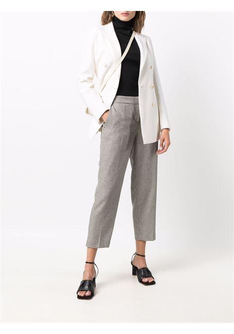 Pantaloni cropped in lana pied de poule grigi ELEVENTY | Pantaloni | D80PAND12-TES0D12220