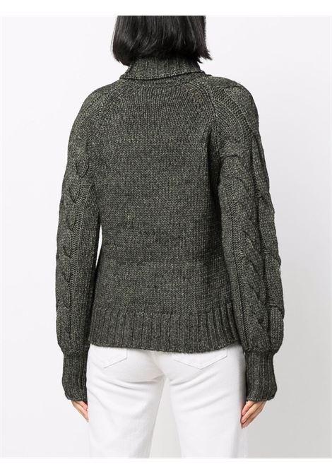 Maglione a collo alto in lana di alpaca verde militare ELEVENTY | Maglieria | D81MAGD31-MAG0D01920