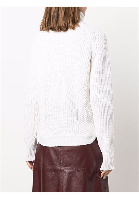 Bright white wool and cashmere blend chunky-knit roll-neck jumper  ELEVENTY      D81MAGD32-MAG0D01801