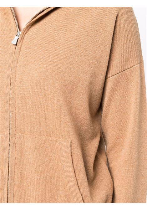Felpa con cappuccio in cashmere color cammello ELEVENTY | Cardigan | D86MAGD26-TCH0D00104
