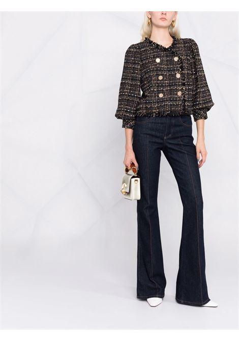 Black fringeed trimmed tweed jacket  EDWARD ACHOUR PARIS |  | 010702-002NERO