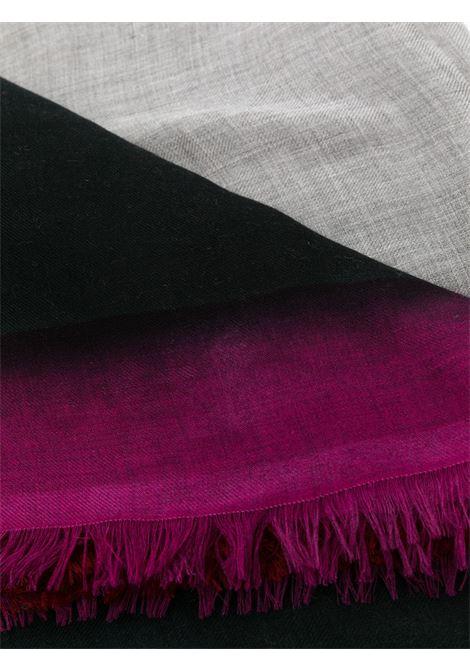 Black,orange and pink cashmere painterly print fringe scarf FALIERO SARTI |  | I21-2119 BRUNY75190