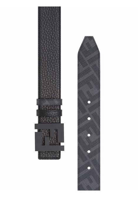 Black and grey reversible FF Fendi logo-buckle belt   FENDI |  | 7C0432-AH8YF0QA1