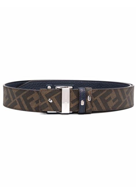 Brown leather reversible belt featuring FF  FENDI |  | 7C0432-AH8YF1FMW