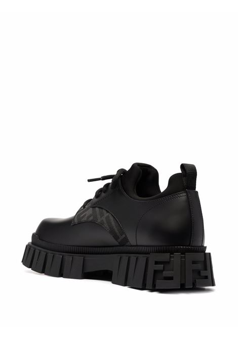 Black calf leather lace-up leather brogues featuring FF panelled design FENDI |  | 7L1459-ADMKF1DV5