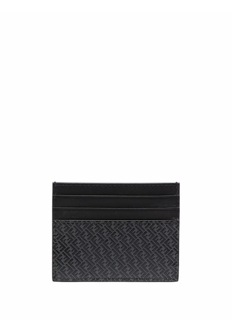 portacarte con monogram FF Fendi in pelle nera opaca FENDI | Portacarte | 7M0164-AGLPF06LB