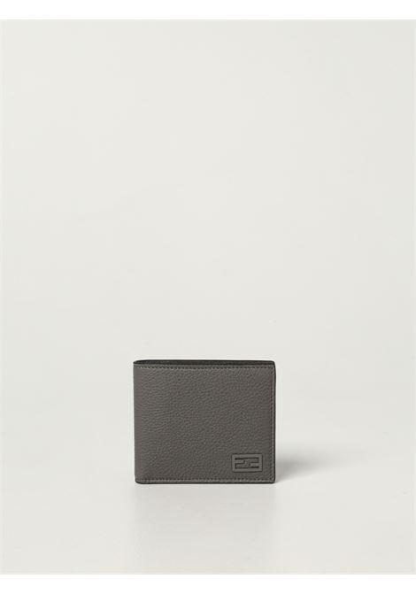 Grey grained texture leather wallet FF logo plaque FENDI |  | 7M0169-AG0LF0ZJ4