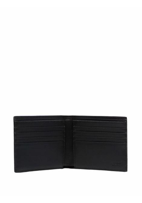 Portafoglio bi-fold in pelle nera con logo FF Fendi FENDI | Portafogli | 7M0169-AGLPF0L6B