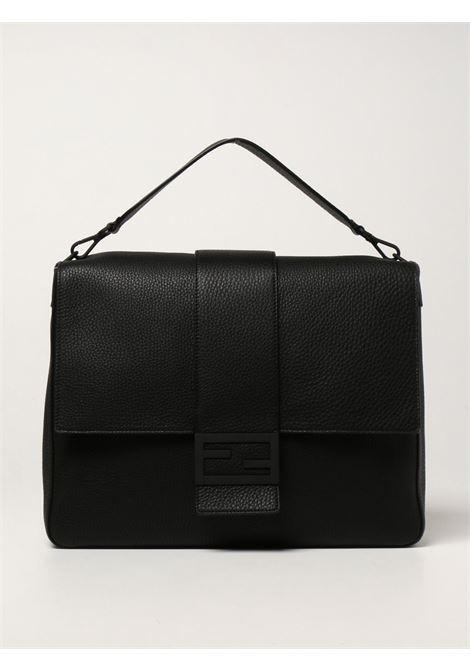 'Baguette' large messenger bag in gray Romano leather  FENDI |  | 7VA536-AG0LF0QA1