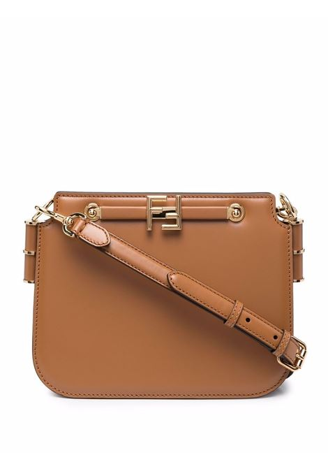 caramel brown calf leather Touch bag featuring gold FF logo plaque, FENDI |  | 8BT349-AHK2F0NYJ