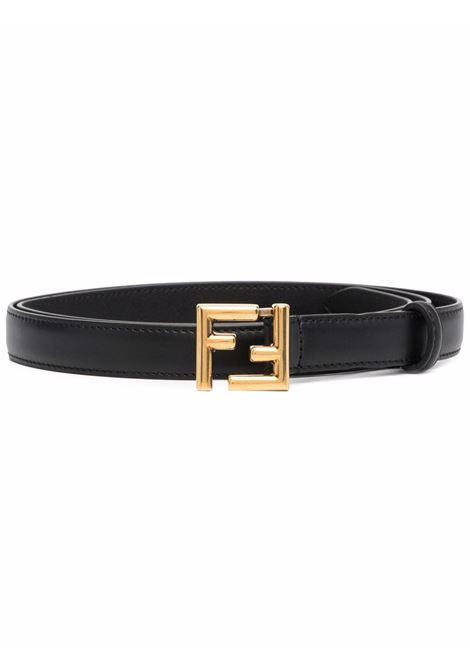 Black leather 2cm belt with gold FF buckle  FENDI |  | 8C0648-AAIWF04TX