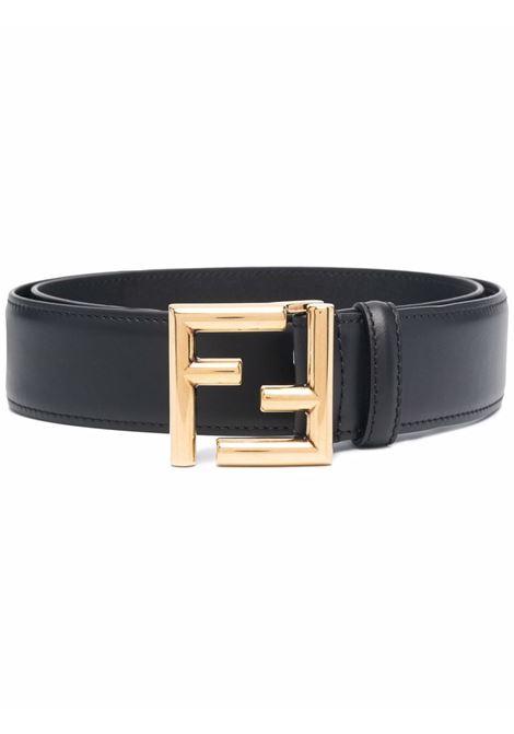 black calf leather belt featuring gold-tone FF hardware FENDI |  | 8C0649-AAIWF04TX