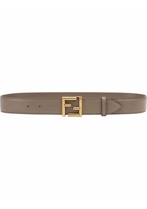 Grey calf leather belt featuring gold-tone FF hardware FENDI |  | 8C0649-AAIWF1FIT