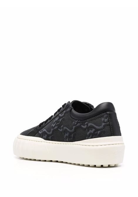 Black FF Karligraphy low-top sneakers with white rubber sole FENDI |  | 8E8214-AGEKF0MN8