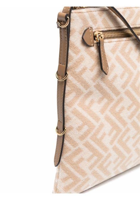 Beige leather shoulder bag featuring Fendi monogram pattern FENDI |  | 8M0450-AHJFF1F24