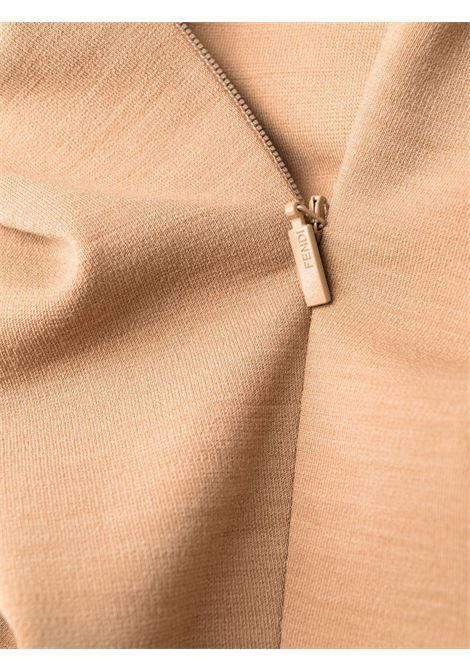Tubino in lana vergine color cammello con spalle scoperte FENDI | Abiti | FDB911-AGTPF0QU5