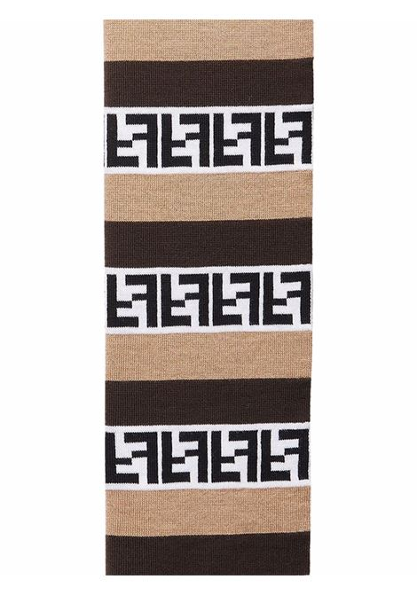 sciarpa in lana multicolore a righe Pequin con motivo FF Fendi FENDI | Sciarpe e foulards | FXS124-AH84F1C2N