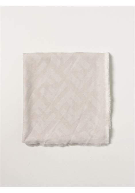 Cream wool and cashmere blend FF logo-jacquard shawl FENDI |  | FXT069-A669F0QG1