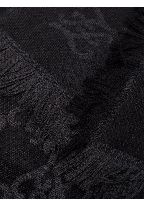 Black virgin wool FF Karligraphy motif shawl  FENDI |  | FXT069-AHRDF0QA1