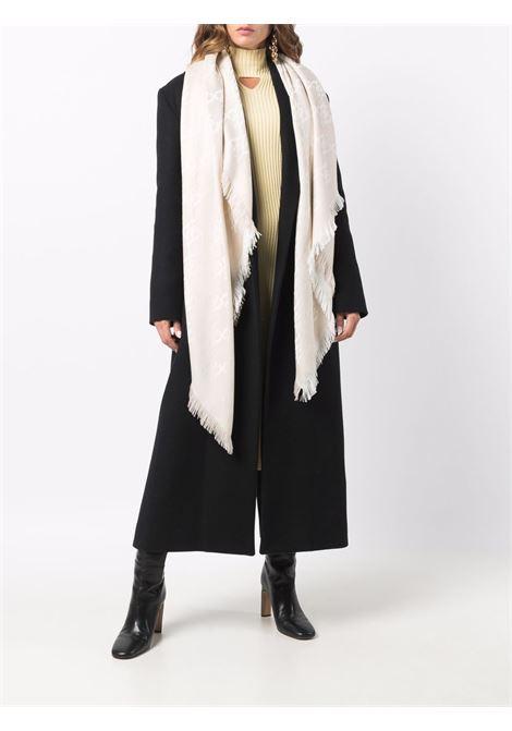 White virgin wool FF Karligraphy motif shawl   FENDI |  | FXT069-AHRDF0QG1