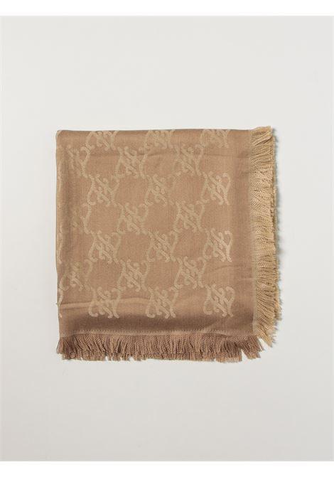Caramel brown virgin wool FF Karligraphy motif shawl FENDI |  | FXT069-AHRDF0QU5