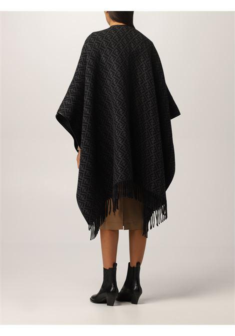 black wool and cachemere FF monogram print poncho  FENDI |  | FXX056-AH7SF1F63