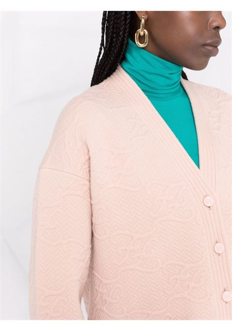 Pink cashmere V-neck button-fastening cardigan   FENDI |  | FZC888-AHE9F1ENM