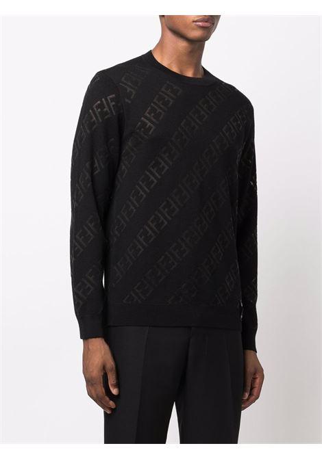 Black virgin wool Fendi monogram jumper  FENDI |  | FZY111-AH3BF0QA1