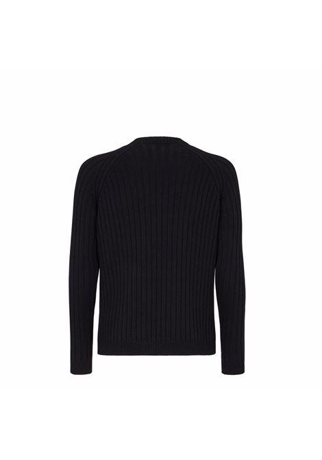Black and yellow wool Fendi intarsia-logo jumper  FENDI |  | FZY451-AH33F13HJ